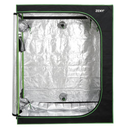 "Zeny Hydroponic Grow Tent with Observation Window and Floor Tray, 48""x24""x60"" High Reflective Growing Room for Indoor Plant Fruit Flower Veg"