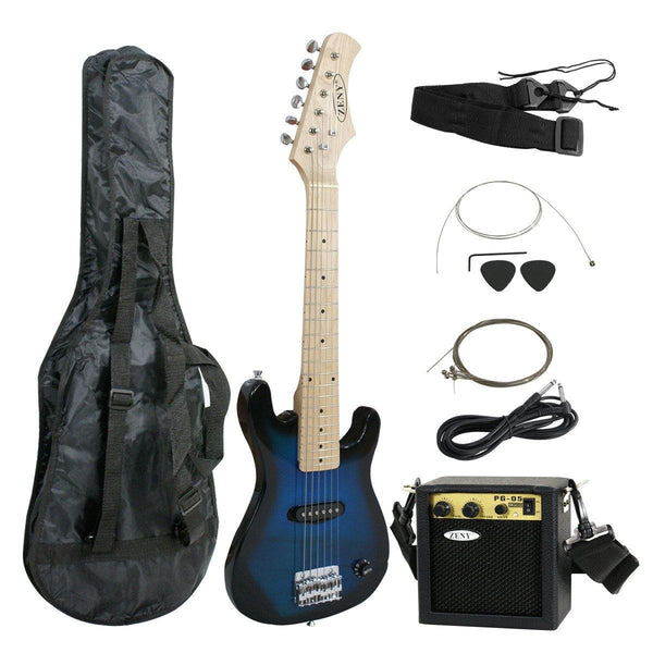zeny blue 30 inch kids electric guitar with 5w amp cable cord should zeny products. Black Bedroom Furniture Sets. Home Design Ideas
