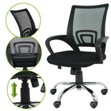 ZENY™New Black Mid Back Executive Office Desk Task Computer Chair w/Metal Base
