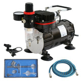 ZENY™Gravity Feed Airbrush+Compressor Kit Dual-Action Spray Air Brush Set Tattoo Nail