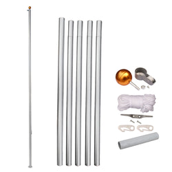 ZENY™Heavy Duty 20' Aluminum Residential Sectional Flag Pole Kit with 3' x 5' US Flag