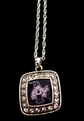 Barberton Magics Bling Necklace - Square w/thin chain