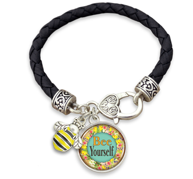Bee Yourself Leather Rope Bracelet $12.95