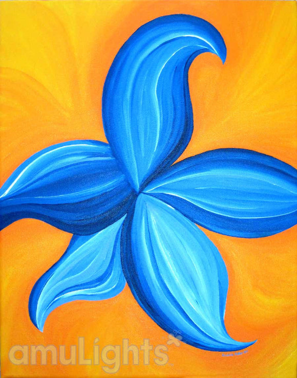 Bright Blue Flower Painting 2