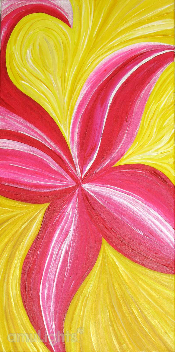 Florescent Pink Flower Painting