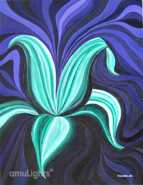 Mint Green Flower Painting