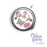 Pink Hot Air Balloon Charm