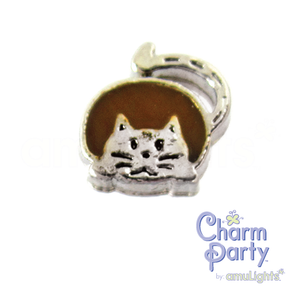 Brown Fat Cat Charm