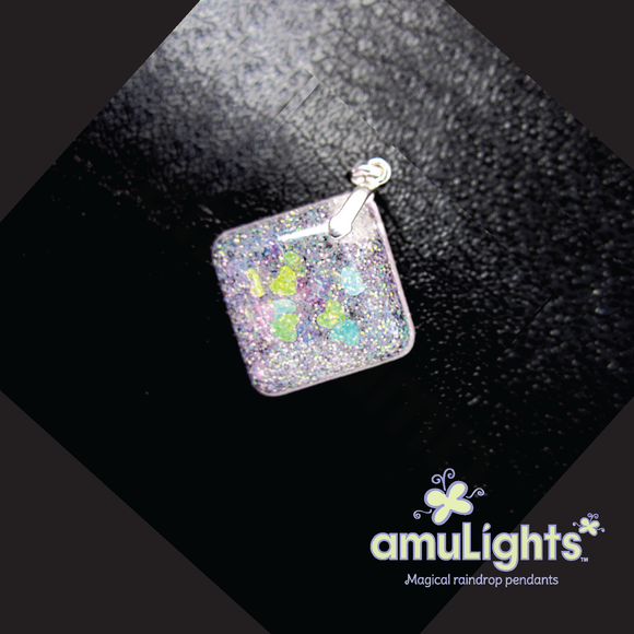 White SnowDrop: Diamond Pendant