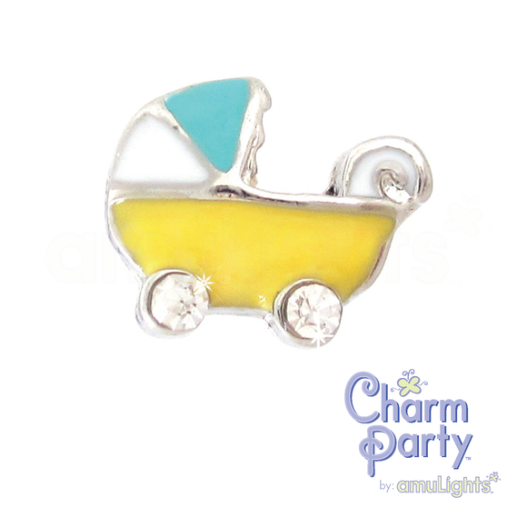 Yellow Carriage Charm