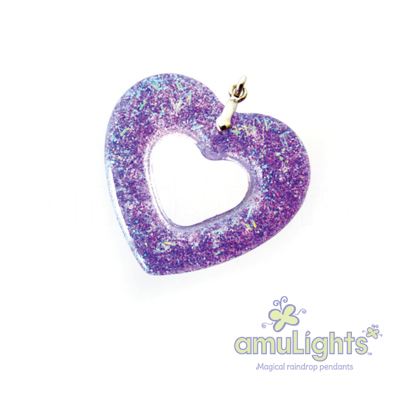 Purple PrismDrop: Heart Ring Pendant