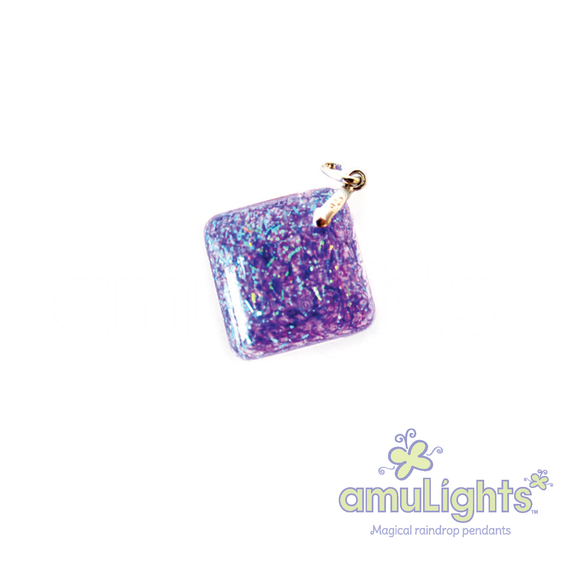Purple PrismDrop: Diamond Pendant
