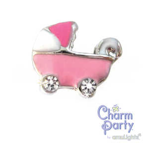 Pink Carriage Charm