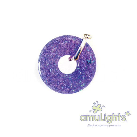 Purple PrismDrop: Ring Pendants