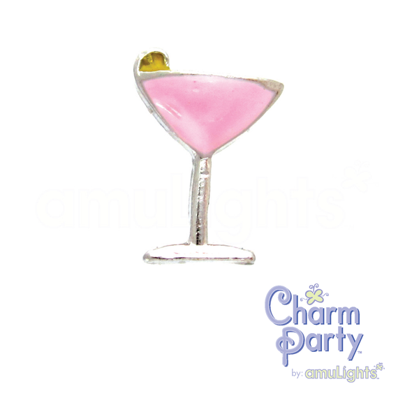 Pink Cocktail Charm