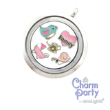 Family Pink Heart Charm