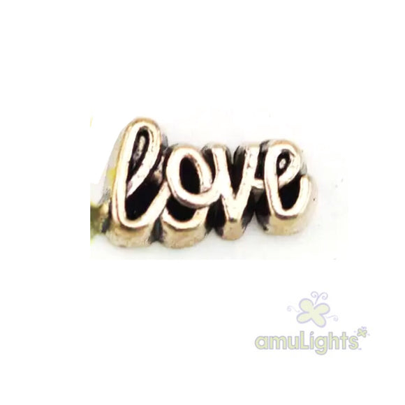 Love Charm - gold toned