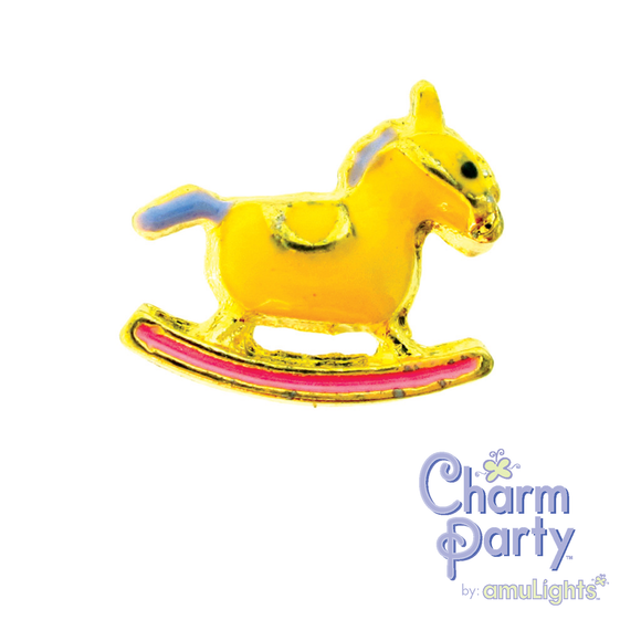 Yellow Rocking Horse Charm