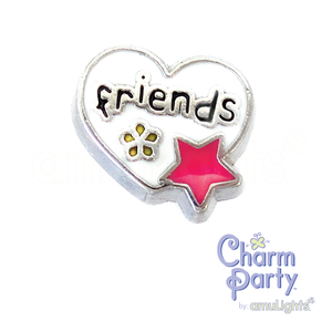 Friends Heart Charm
