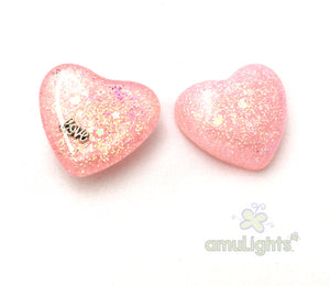 Baby Pink PrismDrop: Heart Pendant