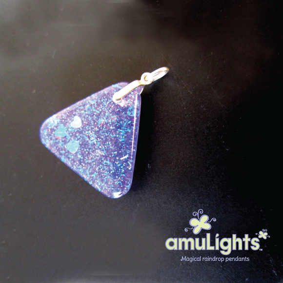 Purple PrismDrop: Triangle Pendant
