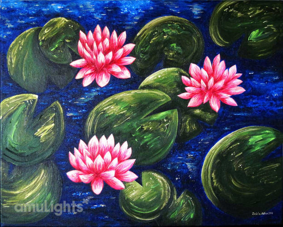 Lotus Flowers Painting