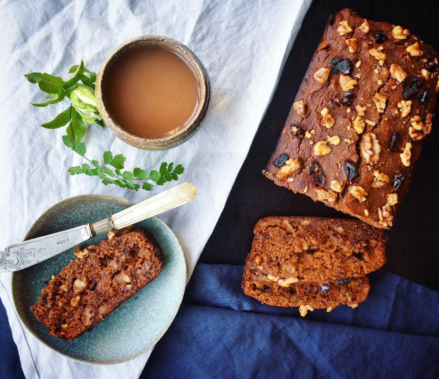 Carob Chai Date and Walnut Loaf