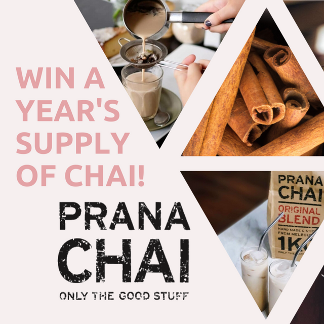 WIN a YEAR'S SUPPLY of CHAI!