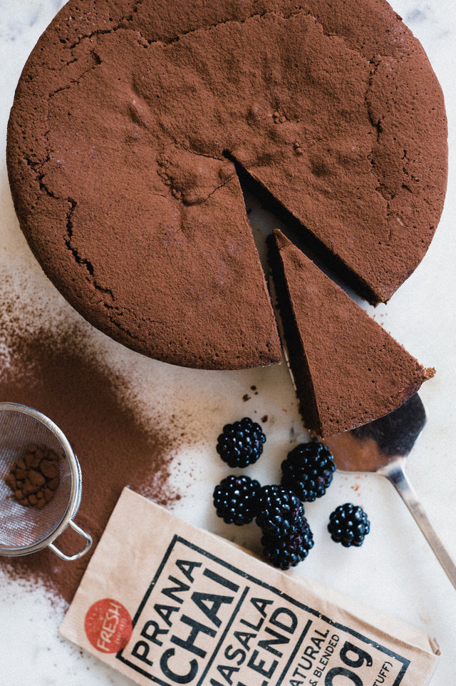 Chai Spiced Flourless Chocolate Cake