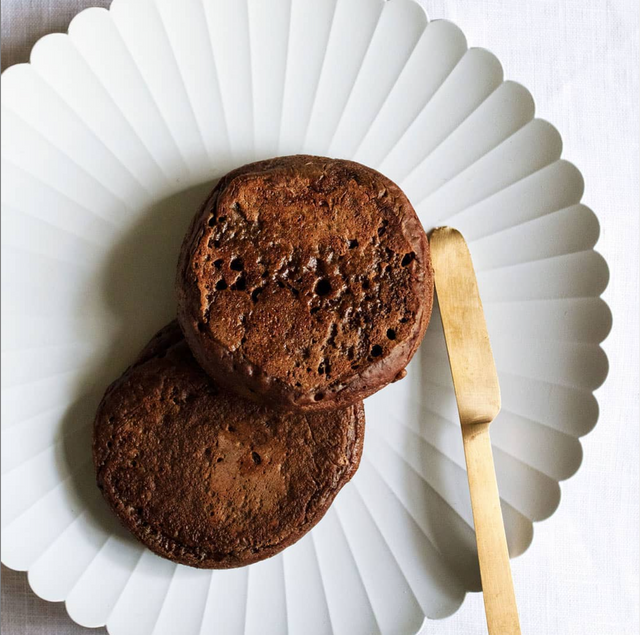 Chocolate Sourdough Crumpets