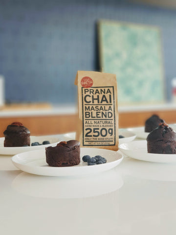 Prana Chai Recipe Chai Tofu Brownie by Jayde Hwang