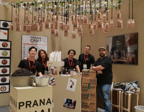 Prana Chai Team at Seoul Coffee Show