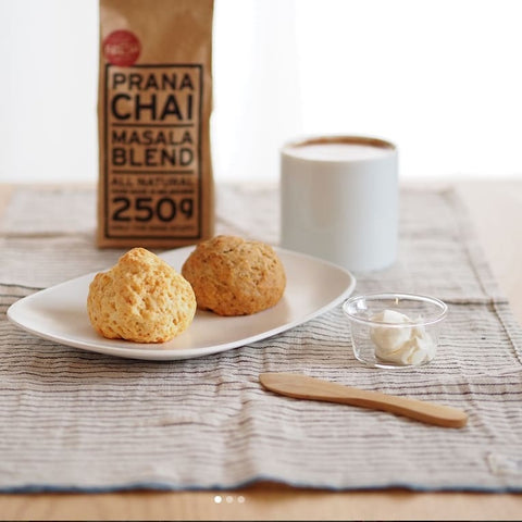 prana-chai-served-with-scones-at-home