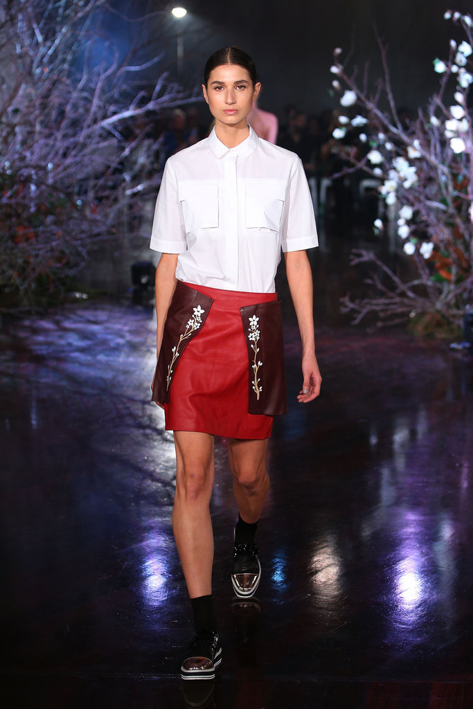 The Panelled Mini Skirt