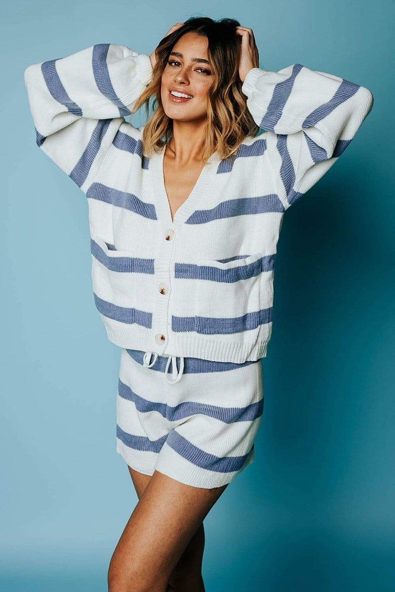 All I Want Striped Set in Blue