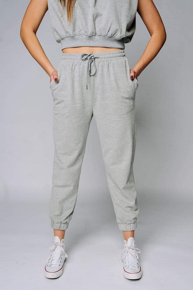 Angie Sweat Pant in Heather Grey