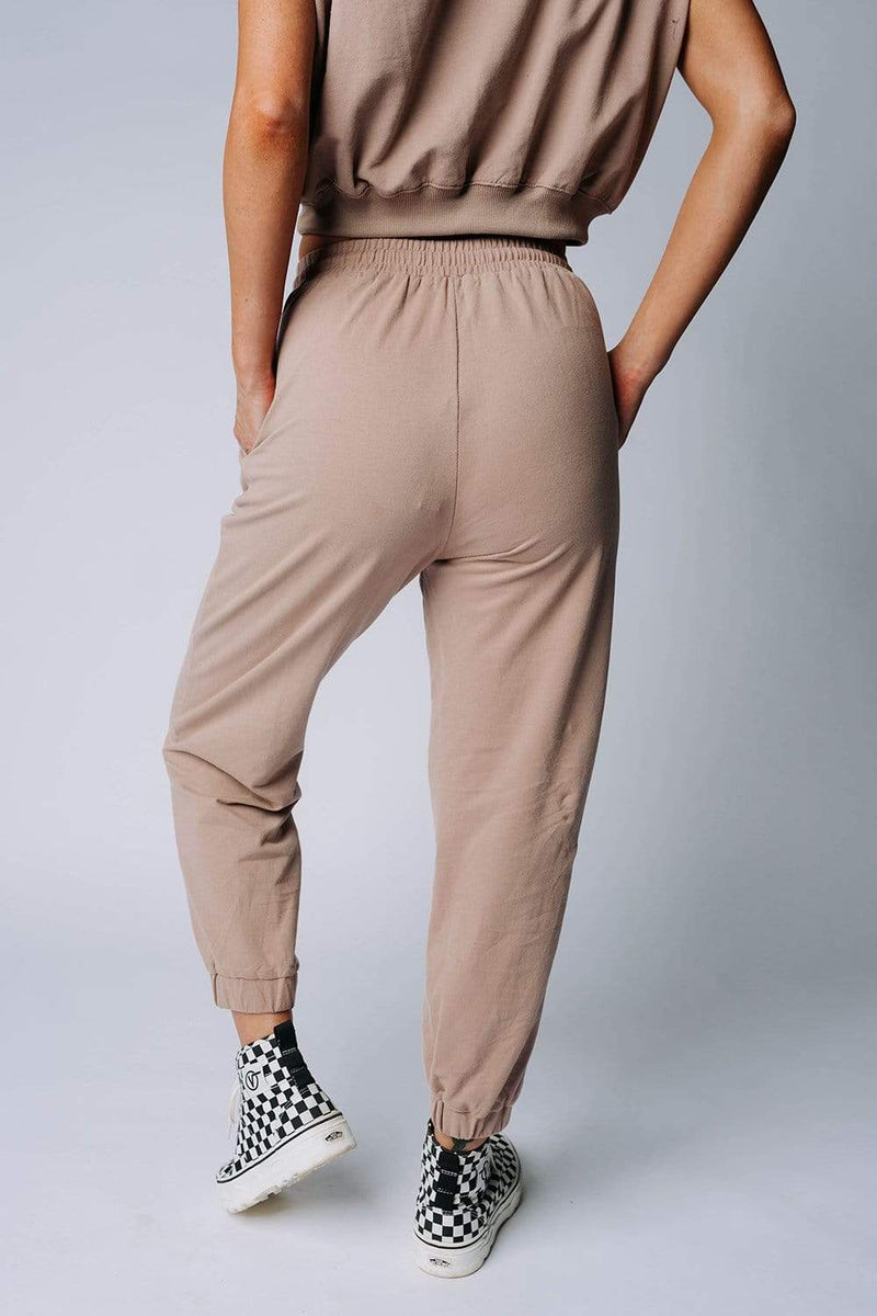 Clad and Cloth, Angie Sweat Pants, Crescent, Bottom.