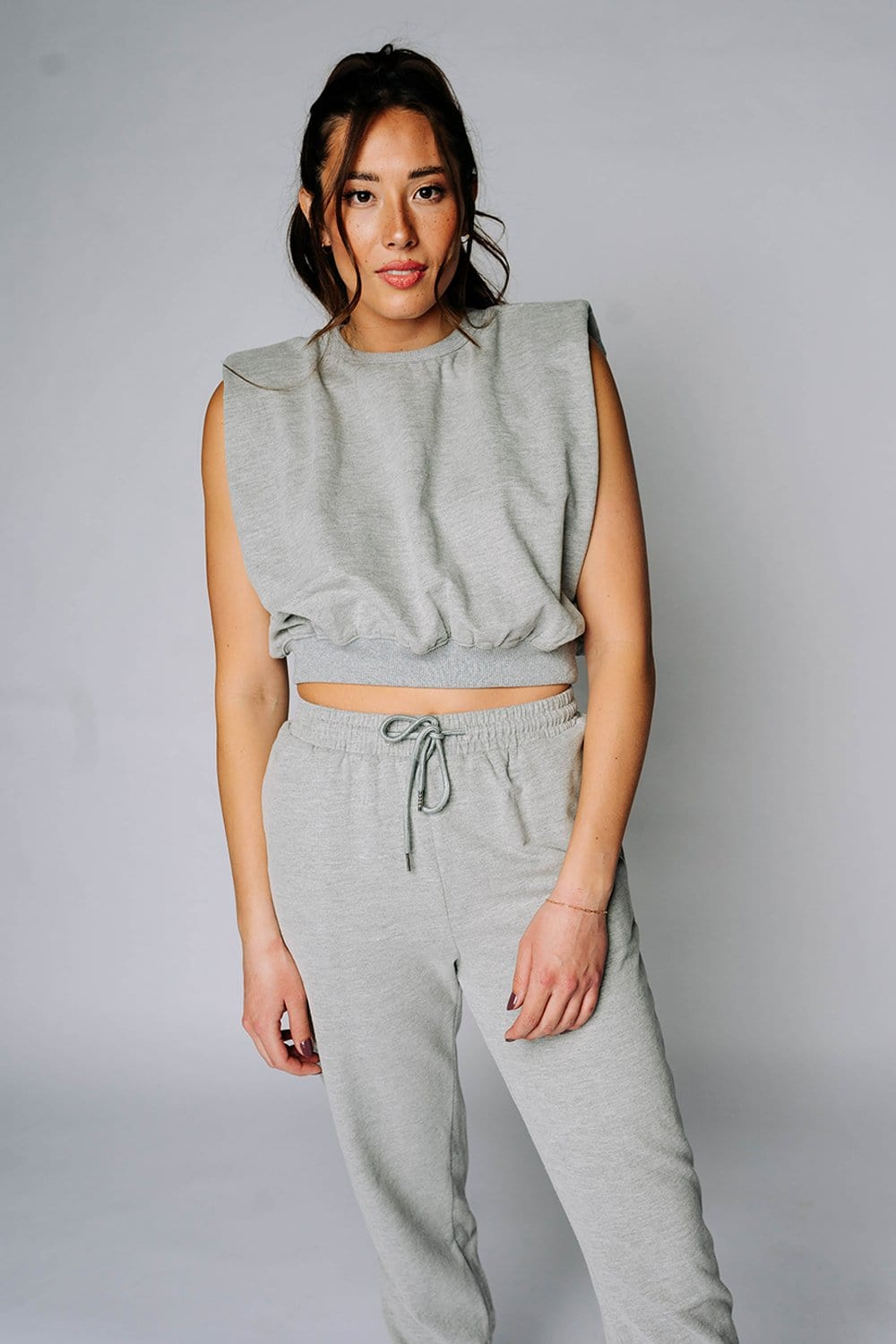 Angie Top in Heather Grey