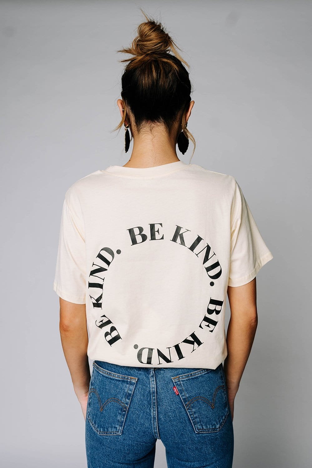 Be Kind Tee in Cream