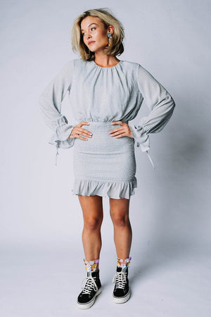 Can't Buy Me Love Mini Dress in Blue, cladandcloth, n/a.