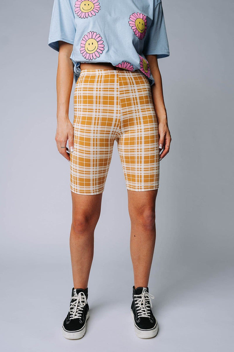Clad and Cloth, Clueless Plaid Bike Short, Clad & Cloth, Bottom.