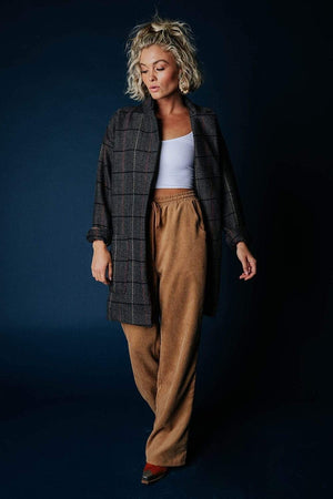 Clad and Cloth, Dani Coat in Grey Combo, Davi & Dani, Jacket.
