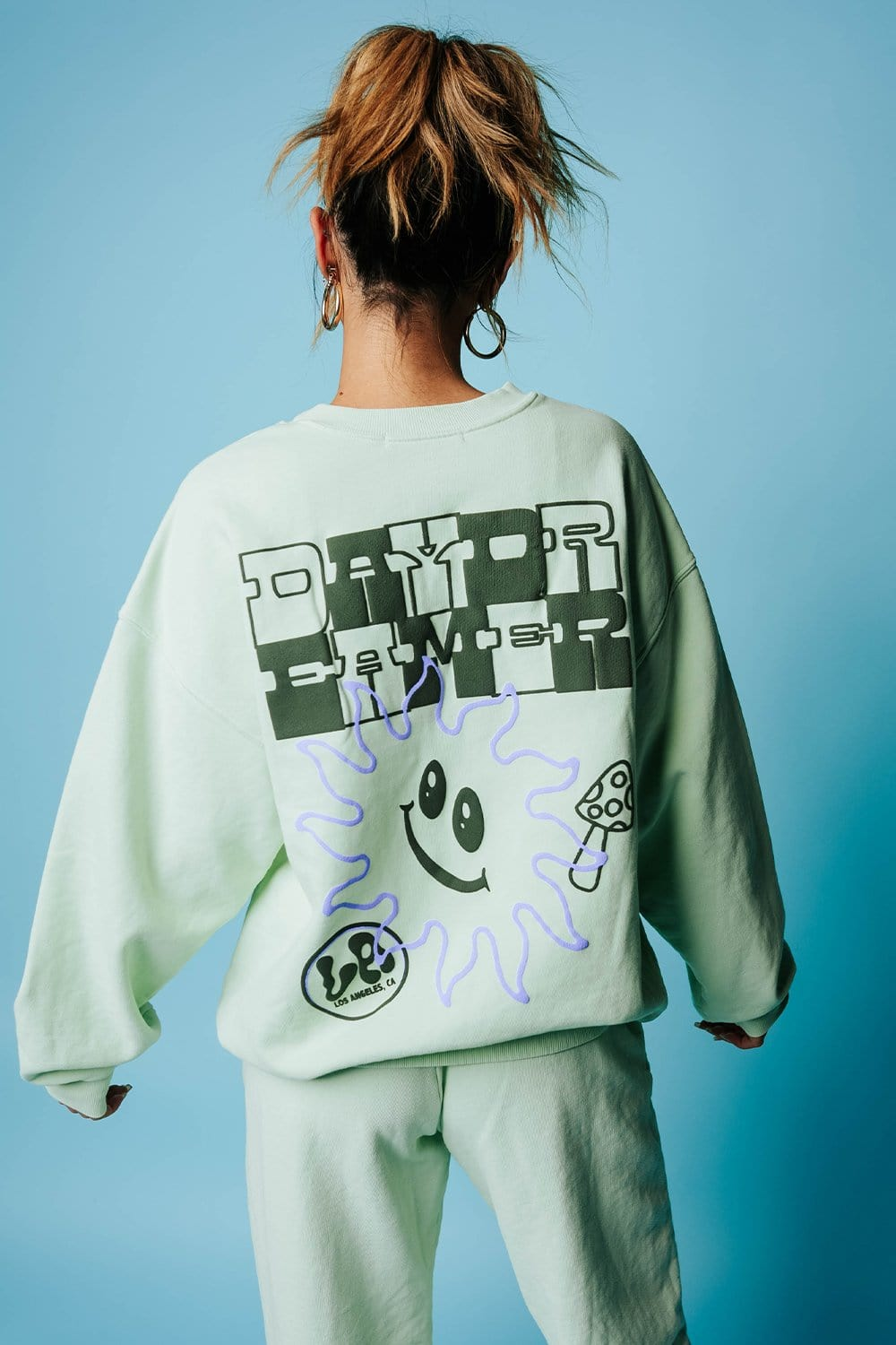 DayDreamer Checker Logo BF Crew Pullover