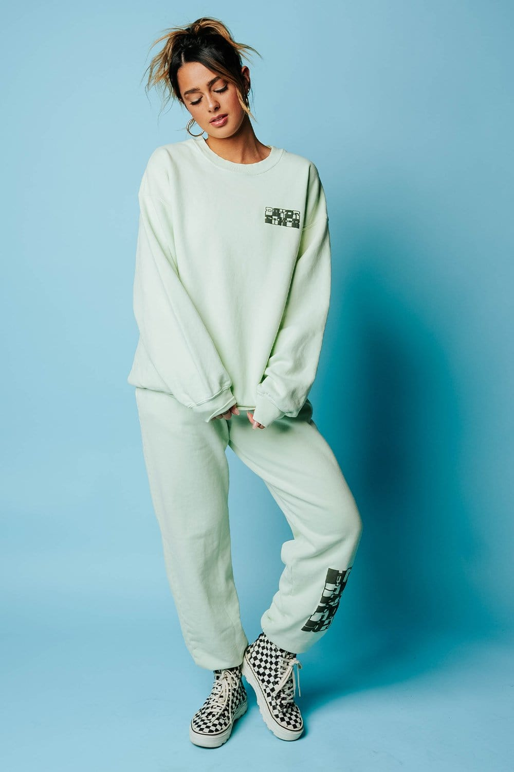 DayDreamer Checker Logo BF Sweatpant