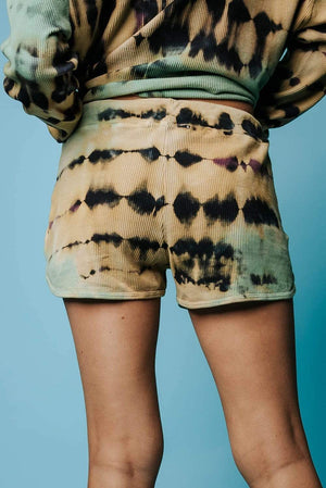DayDreamer Tie Dye Thermal Shorts