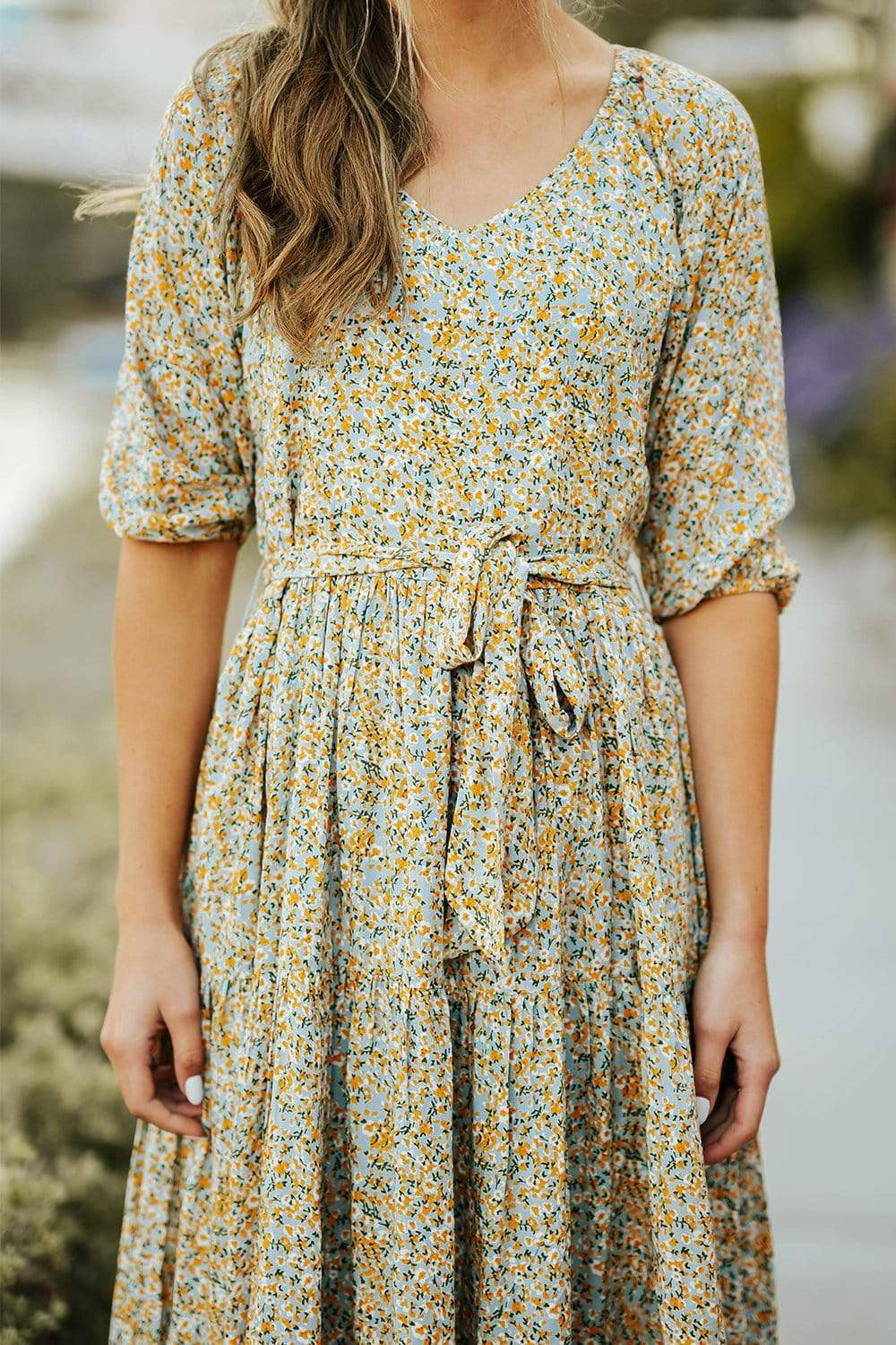 Ditsy Tier Midi Dress By Bobbie Wren