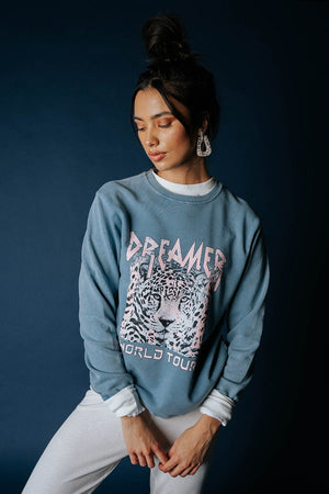 Dreamer World Tour Graphic Sweatshirt Top Zutter Clad and Cloth
