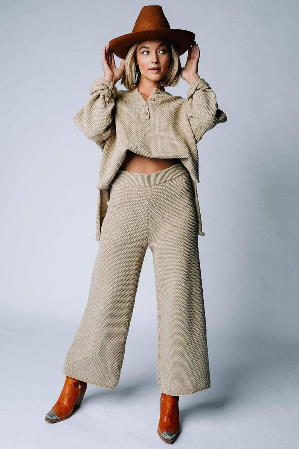 The Frankie Set in Sand-Bottom-n/a-S-Clad & Cloth