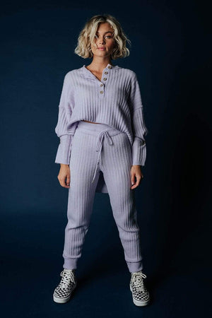Free People Around the Clock Jogger in Lavender, cladandcloth, Free People.