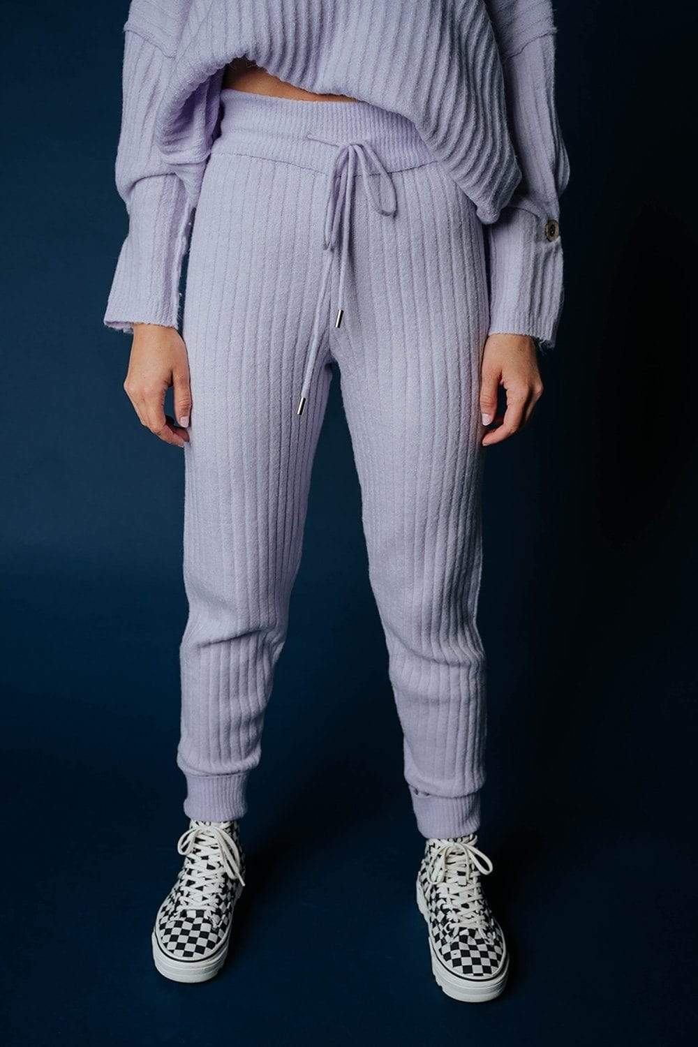 Free People Around the Clock Jogger in Lavendar Bottom Free People Clad and Cloth
